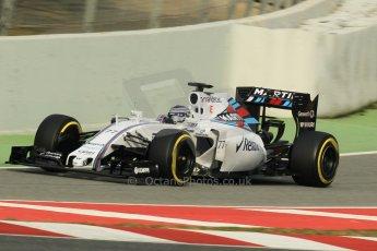World © Octane Photographic Ltd. Williams Martini Racing FW37 – Valtteri Bottas. Sunday 1st March 2015, F1 Winter test #3, Circuit de Barcelona-Catalunya, Spain Test 2 Day 4. Digital Ref: 1195CB1L4153