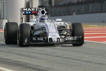 World © Octane Photographic Ltd. Williams Martini Racing FW37 – Valtteri Bottas. Sunday 1st March 2015, F1 Winter test #3, Circuit de Barcelona-Catalunya, Spain Test 2 Day 4. Digital Ref: 1195CB1L4263