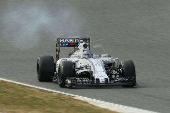 World © Octane Photographic Ltd. Williams Martini Racing FW37 – Valtteri Bottas. Sunday 1st March 2015, F1 Winter test #3, Circuit de Barcelona-Catalunya, Spain Test 2 Day 4. Digital Ref: 1195CB1L4305