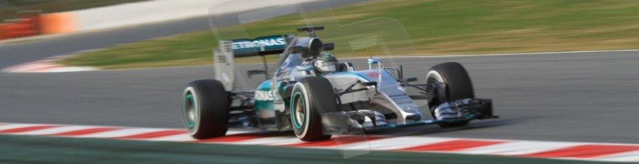 World © Octane Photographic Ltd. Mercedes AMG Petronas F1 W06 Hybrid – Nico Rosberg. Sunday 1st March 2015, F1 Winter test #3, Circuit de Barcelona-Catalunya, Spain Test 2 Day 4. Digital Ref: 1195CB7B1496
