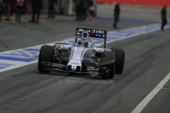 World © Octane Photographic Ltd. Williams Martini Racing FW37 – Valtteri Bottas. Sunday 1st March 2015, F1 Winter test #3, Circuit de Barcelona-Catalunya, Spain Test 2 Day 4. Digital Ref: 1195LB1D3317