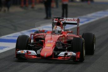 World © Octane Photographic Ltd. Scuderia Ferrari SF15-T– Sebastian Vettel. Sunday 1st March 2015, F1 Winter test #3, Circuit de Barcelona-Catalunya, Spain Test 2 Day 4. Digital Ref: 1195LB1D3432