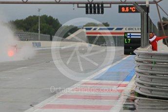 World © Octane Photographic Ltd. Pirelli wet tyre test, Paul Ricard, France. Monday 25th January 2016. Ferrari SF15-T – Kimi Raikkonen. Digital Ref: 1498CB1D8939
