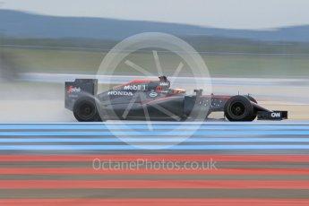 World © Octane Photographic Ltd. Pirelli wet tyre test, Paul Ricard, France. Monday 25th January 2016. McLaren Honda MP4/30 – Stoffel Vandoorne. Digital Ref: 1498CB1D9004