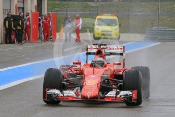 World © Octane Photographic Ltd. Pirelli wet tyre test, Paul Ricard, France. Monday 25th January 2016. Ferrari SF15-T – Kimi Raikkonen. Digital Ref: 1498CB7D5487