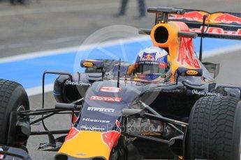 World © Octane Photographic Ltd. Pirelli wet tyre test, Paul Ricard, France. Monday 25th January 2016. Red Bull Racing RB11 – Daniel Ricciardo. Digital Ref: 1498CB7D5505