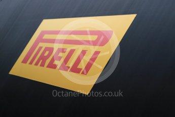 World © Octane Photographic Ltd. Pirelli wet tyre test, Paul Ricard, France. Monday 25th January 2016. Pirelli logo. Digital Ref:1498LB1D5529