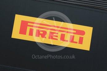 World © Octane Photographic Ltd. Pirelli wet tyre test, Paul Ricard, France. Monday 25th January 2016. Pirelli logo. Digital Ref: 1498LB1D5538