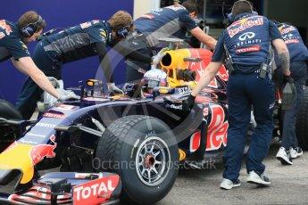 World © Octane Photographic Ltd. Pirelli wet tyre test, Paul Ricard, France. Monday 25th January 2016. Red Bull Racing RB11 – Daniel Ricciardo. Digital Ref: 1498LB1D5569