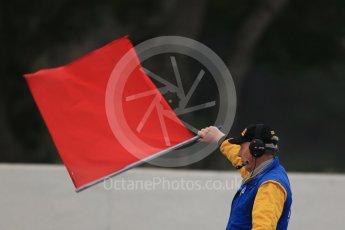 World © Octane Photographic Ltd. Pirelli wet tyre test, Paul Ricard, France. Monday 25th January 2016. Red flag. Digital Ref: 1498LB1D5969