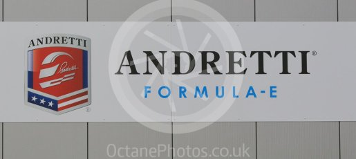World © Octane Photographic Ltd. 5th February 2016 – Donington Park Formula e HQ. Andretti Formula e team logo. Digital Ref : 1501CB1D0459