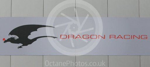 World © Octane Photographic Ltd. 5th February 2016 – Donington Park Formula e HQ. Dragon Racing Formula e team logo. Digital Ref : 1501CB1D0476