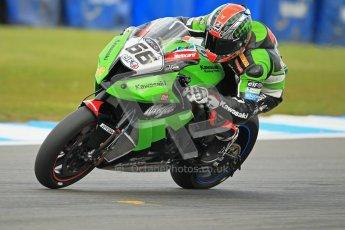 © Octane Photographic Ltd. 2012 World Superbike Championship – European GP – Donington Park. Friday 11th May 2012. WSBK Friday Qualifying practice. Tom Sykes - Kawasaki ZX-10R. Digital Ref : 0330cb1d3031