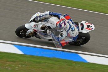 © Octane Photographic Ltd. 2012 World Superbike Championship – European GP – Donington Park. Friday 11th May 2012. WSBK Friday Qualifying practice. Leon Haslam - BMW S1000RR. Digital Ref : 0330cb7d1391