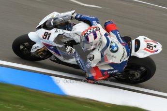 © Octane Photographic Ltd. 2012 World Superbike Championship – European GP – Donington Park. Friday 11th May 2012. WSBK Friday Qualifying practice. Leon Haslam - BMW S1000RR. Digital Ref : 0330cb7d1434