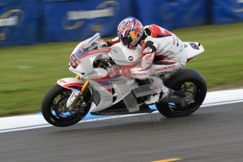 © Octane Photographic Ltd. 2012 World Superbike Championship – European GP – Donington Park. Friday 11th May 2012. WSBK Friday Qualifying practice. Jonathan Rea - Honda CBR1000RR. Digital Ref : 0330cb7d1722