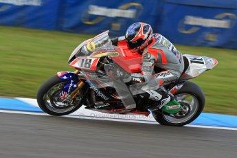 © Octane Photographic Ltd. 2012 World Superbike Championship – European GP – Donington Park. Friday 11th May 2012. WSBK Friday Qualifying practice. Mark Aitchison - BMW S1000RR. Digital Ref : 0330cb7d1727