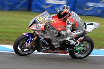 © Octane Photographic Ltd. 2012 World Superbike Championship – European GP – Donington Park. Friday 11th May 2012. WSBK Friday Qualifying practice. Mark Aitchison - BMW S1000RR. Digital Ref : 0330cb7d1871