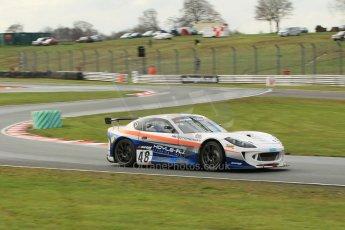 World © Octane Photographic Ltd. Avon Tyres British GT Championship Practice, Oulton Park, UK, Saturday 4th April 2015. G55 Ginetta GT4 – Pro/Am, Fox Motorsport – Paul McNeilly and Jamie Stanley. Digital Ref :