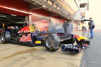 World © Octane Photographic 2011. Formula 1 testing Monday 21st February 2011 Circuit de Catalunya. Red Bull RB7 - Mark Webber. Digital ref : 0012CB1D2630