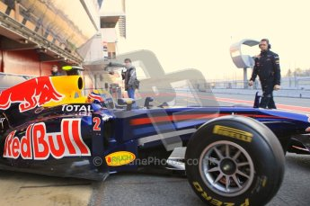 World © Octane Photographic 2011. Formula 1 testing Monday 21st February 2011 Circuit de Catalunya. Red Bull RB7 - Mark Webber. Digital ref : 0012CB1D2633