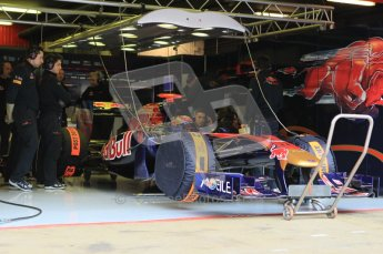 World © Octane Photographic 2011. Formula 1 testing Monday 21st February 2011 Circuit de Catalunya. Toro Rosso STR6 - Sebastien Buemi. Digital ref : 0012CB1D2668