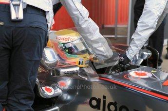 World © Octane Photographic 2011. Formula 1 testing Monday 21st February 2011 Circuit de Catalunya. McLaren MP4/26 - Lewis Hamilton. Digital ref : 0012CB1D2729