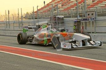 World © Octane Photographic 2011. Formula 1 testing Monday 21st February 2011 Circuit de Catalunya. Force India VJM04 - Adrian Sutil. Digital ref : 0012CB1D2756
