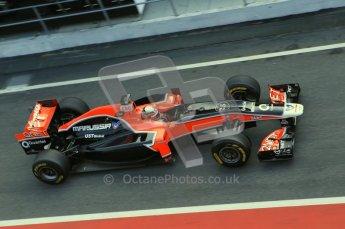 World © Octane Photographic 2011. Formula 1 testing Monday 21st February 2011 Circuit de Catalunya. Virgin MVR-02 - Jerome d'Ambrosio. Digital ref : 0012CB1D2762
