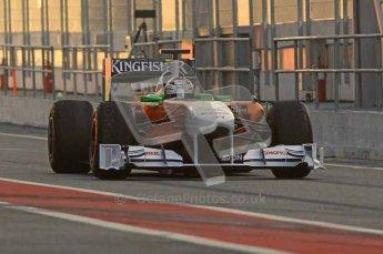 World © Octane Photographic 2011. Formula 1 testing Monday 21st February 2011 Circuit de Catalunya. Force India VJM04 - Adrian Sutil. Digital ref : 0012LW7D5247