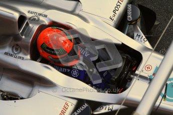 World © Octane Photographic 2011. Formula 1 testing Monday 21st February 2011 Circuit de Catalunya. Mercedes MGP W02 - Michael Schumacher. Digital ref : 0012LW7D5492
