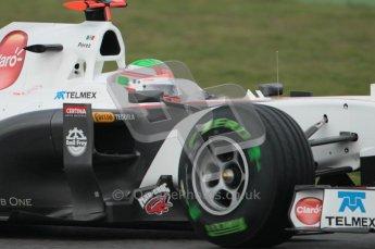 © Octane Photographic 2011. Formula 1 testing Sunday 20th February 2011 Circuit de Catalunya. Sauber C30 - Sergio Perez. Digital ref : 0010CB1D1385