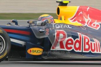 © Octane Photographic 2011. Formula 1 testing Sunday 20th February 2011 Circuit de Catalunya. Red Bull RB7 - Mark Webber. Digital ref : 0010CB1D1840