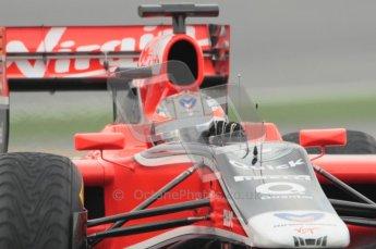 © Octane Photographic 2011. Formula 1 testing Sunday 20th February 2011 Circuit de Catalunya. Virgin MVR-02 - Timo Glock. Digital ref : 0010CB1D2008