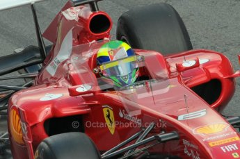 © Octane Photographic 2011. Formula 1 testing Sunday 20th February 2011 Circuit de Catalunya. Ferrari 150° Italia - Felipe Massa. Digital ref : 0010CB1D1027