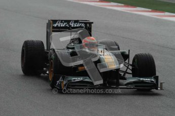 © Octane Photographic 2011. Formula 1 testing Sunday 20th February 2011 Circuit de Catalunya. Lotus T124 - Jarno Trulli. Digital ref : 0010LW7D2246