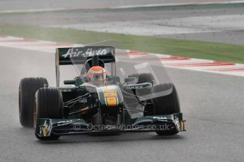 © Octane Photographic 2011. Formula 1 testing Sunday 20th February 2011 Circuit de Catalunya. Lotus T124 - Jarno Trulli. Digital ref : 0010CB1D1027