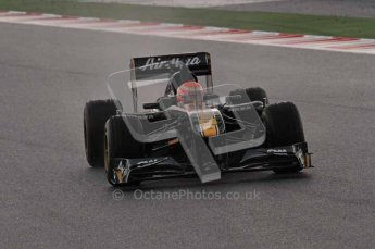 © Octane Photographic 2011. Formula 1 testing Sunday 20th February 2011 Circuit de Catalunya. Lotus T124 - Jarno Trulli. Digital ref : 0010LW7D2380