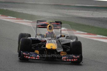 © Octane Photographic 2011. Formula 1 testing Sunday 20th February 2011 Circuit de Catalunya. Red Bull RB7 - Mark Webber. Digital ref : 0010LW7D2451