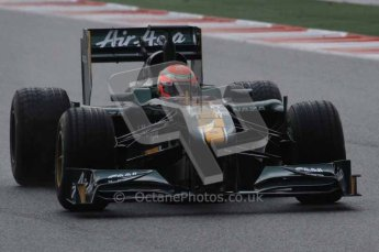 © Octane Photographic 2011. Formula 1 testing Sunday 20th February 2011 Circuit de Catalunya. Lotus T124 - Jarno Trulli. Digital ref : 0010LW7D2519