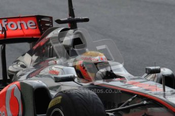 © Octane Photographic 2011. Formula 1 testing Sunday 20th February 2011 Circuit de Catalunya. McLaren MP4/26 - Lewis Hamilton. Digital ref : 0010LW7D2566