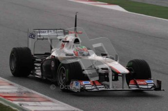 © Octane Photographic 2011. Formula 1 testing Sunday 20th February 2011 Circuit de Catalunya. Digital ref : 0010LW7D2635