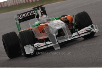 © Octane Photographic 2011. Formula 1 testing Sunday 20th February 2011 Circuit de Catalunya. Force India VJM04 - Adrian Sutil. Digital ref : 0010LW7D2864