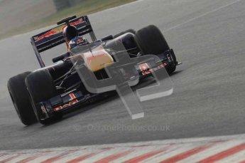 © Octane Photographic 2011. Formula 1 testing Sunday 20th February 2011 Circuit de Catalunya. Toro Rosso STR6 - Daniel Ricciardo. Digital ref : 0010LW7D2889