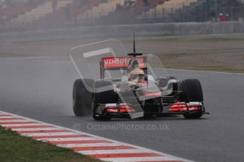 © Octane Photographic 2011. Formula 1 testing Sunday 20th February 2011 Circuit de Catalunya. McLaren MP4/26 - Lewis Hamilton. Digital ref : 0010LW7D3115