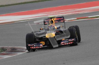 © Octane Photographic 2011. Formula 1 testing Sunday 20th February 2011 Circuit de Catalunya. Red Bull RB7 - Mark Webber. Digital ref : 0010LW7D3568