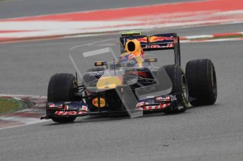 © Octane Photographic 2011. Formula 1 testing Sunday 20th February 2011 Circuit de Catalunya. Red Bull RB7 - Mark Webber. Digital ref : 0010LW7D3602