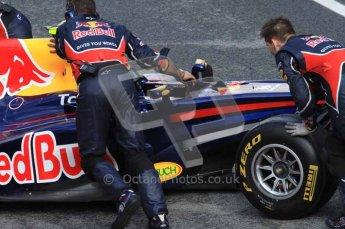 © Octane Photographic 2011. Formula 1 testing Sunday 20th February 2011 Circuit de Catalunya. Red Bull RB7 - Mark Webber. Digital ref : 0010LW7D2695