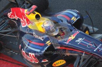World © Octane Photographic 2010. © Octane Photographic 2011. Friday 18th February 2011 Circuit de Catalunya. Red Bull RB7 - Sebastian Vettel. Digital ref : 0024CB1D0045