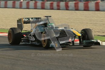 World © Octane Photographic 2010. © Octane Photographic 2011. Formula 1 testing Friday 18th February 2011 Circuit de Catalunya. Lotus T128 - Heikki Kovalainen. Digital ref : 0024CB1D9751